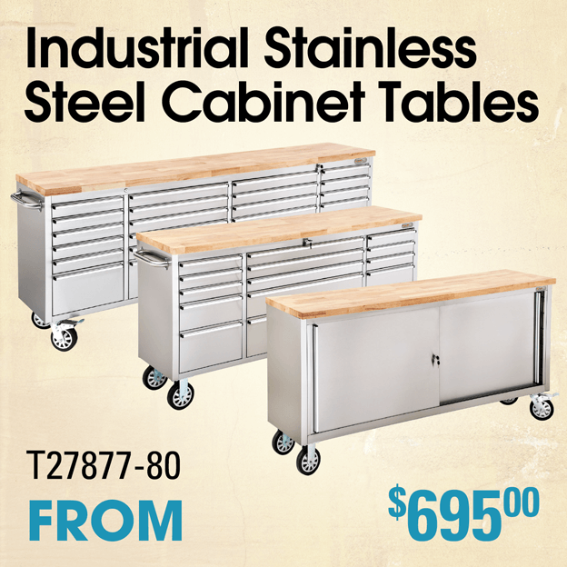 Stainless Steel Cabinet Tables