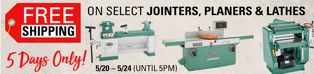 Jointers Planers \u0026 Lathes