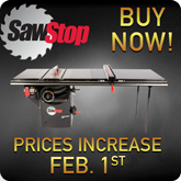SawStopPrice Increase